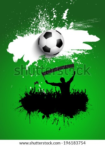 Grunge crowd on a football / soccer background
