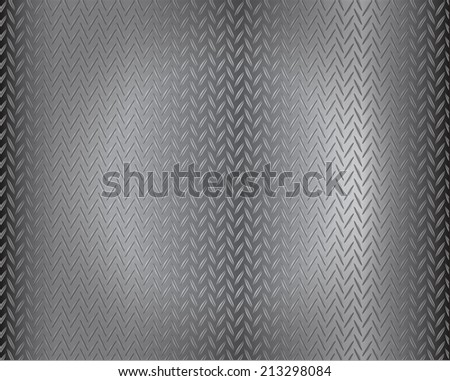 grunge diamond metal background - stock vector