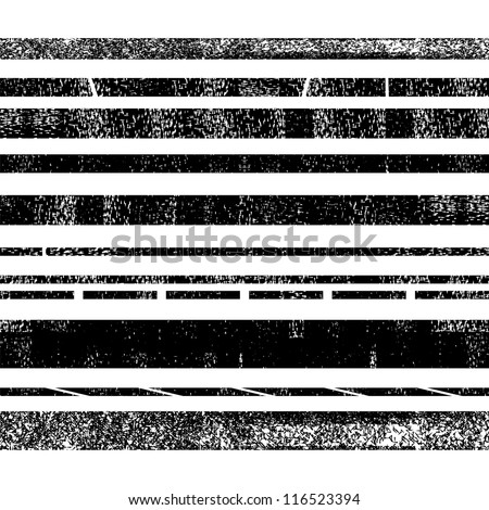 Grunge dividers, borders, stripes (vector version)