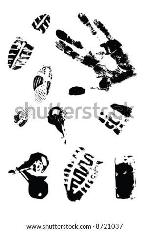 Grunge element, unique set - stock vector