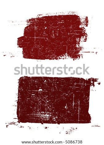 Grunge elements - 2 Grunged Squares -  Highly Detailed vector grunge elements