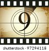 Grunge film countdown - stock photo