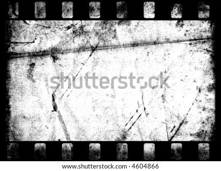 Grunge Film Frame (vector) - stock vector
