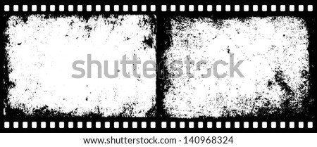 grunge film frames with transparent space insert for picture or text - stock vector