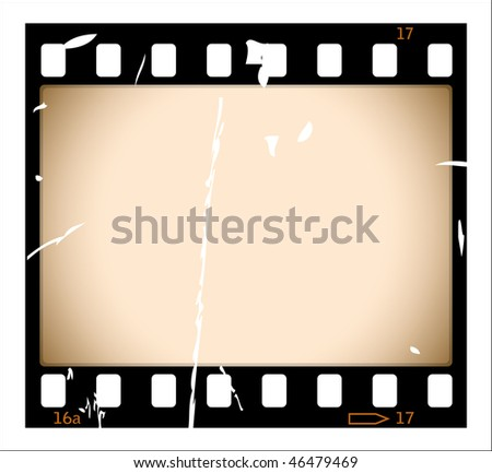 Grunge film strip - stock vector