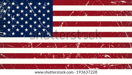 Grunge flag country - USA - stock vector