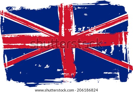 Grunge flag of the United Kingdom for your design - stock vector