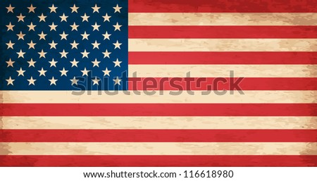 Grunge Flag of United States - stock vector