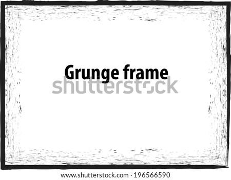 Grunge frame - stock vector