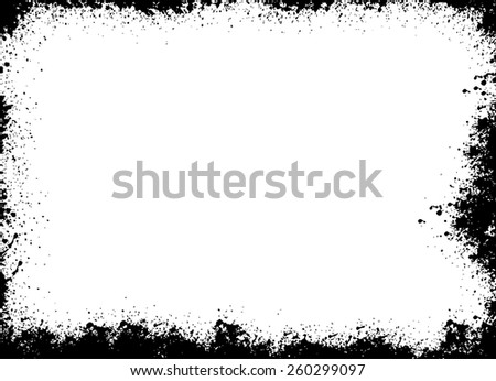 Grunge frame - abstract texture. Stock vector design template - easy to use