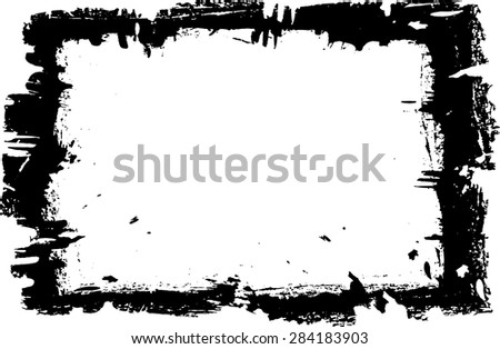 Grunge frame - abstract vector template