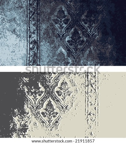 Grunge frame and border series - stock vector