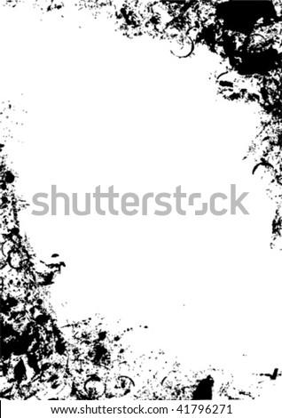 Grunge frame - background vector - stock vector