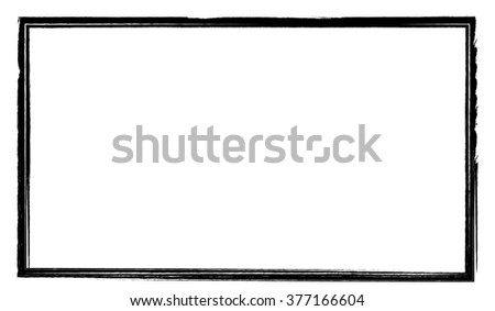 Grunge Frame Black - stock vector
