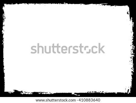Grunge frame.Distress frame Vector grunge background. - stock vector