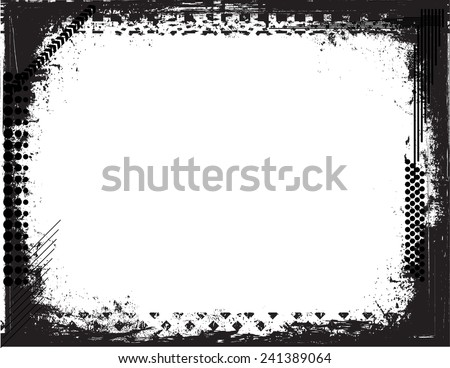 Grunge Frame. Grunge Background . Grunge Texture . Vector Illustration.  - stock vector