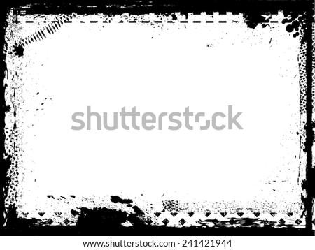 Grunge Frame. Grunge Background . Grunge Texture . Vector Illustration.  - stock vector