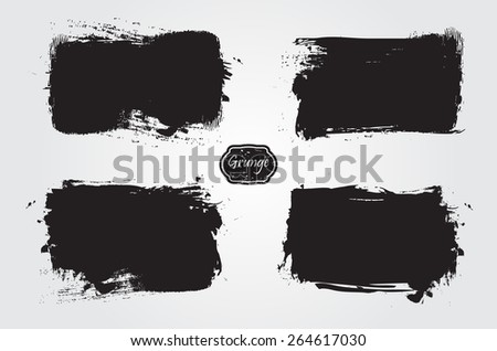 Grunge frame.Grunge banner.Abstract vector template.  - stock vector