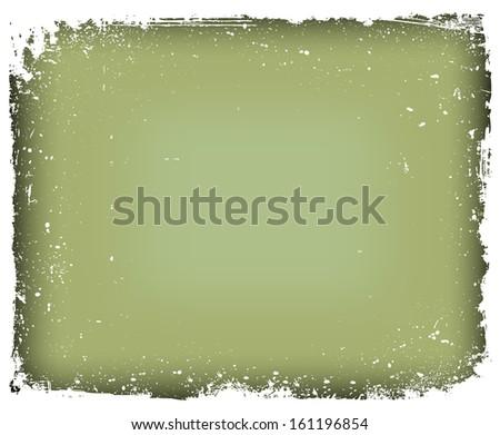 Grunge frame isolated. Vector illustration - stock vector