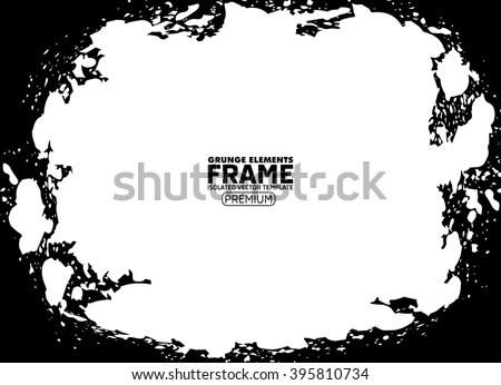 Grunge frame texture  - Abstract design template. Isolated stock vector illustration