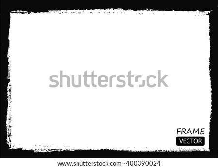 Grunge frame.Vector grunge background. - stock vector