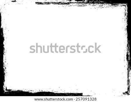 Grunge Frame. Vector Illustration.  - stock vector