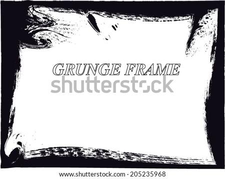 Grunge frame. vector template - stock vector