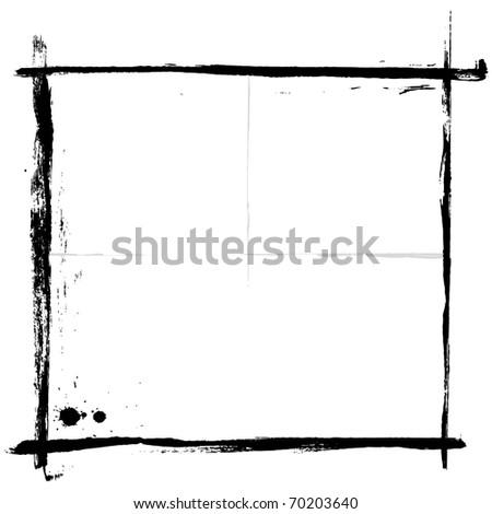 Grunge Frames for multiple applications. Vector EPS 8. - stock vector