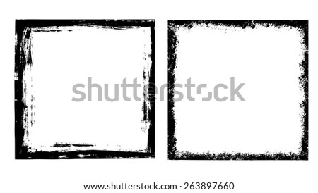Grunge frames set - Illustration - stock vector