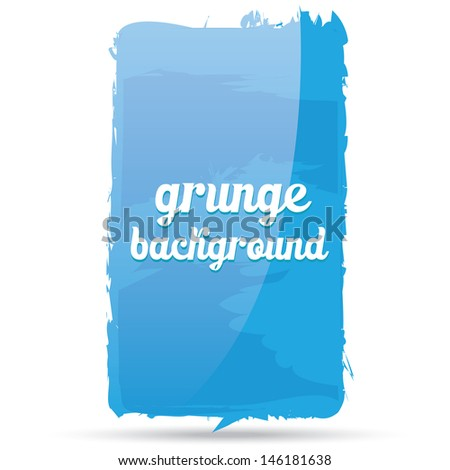 Grunge glossy blue background. Retro blue background.  Blue Business background. Abstract blue background. Hand drawn. Texture background. Blue Abstract shape - stock vector