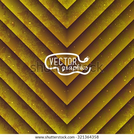 Grunge gold paper striped background for design - stock vector