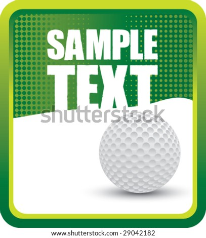 grunge golf ball background - stock vector