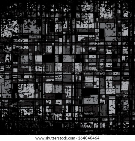 Grunge grid black and gray texture. Vector ink grunge brush. Illustration background.