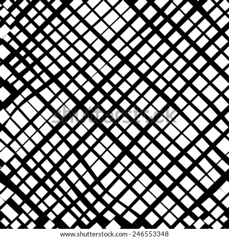 Grunge grid black and white texture. Vector ink grunge brush.