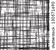 Grunge grid black and white texture. Vector ink grunge brush. Illustration background. - stock vector