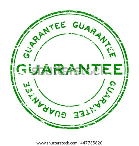 Grunge guarantee stamp on white background