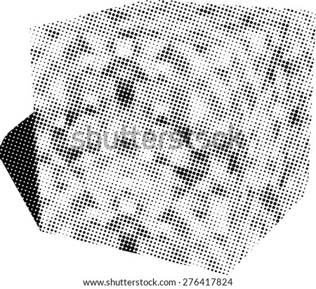 Grunge halftone dots vector texture background .