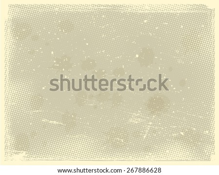 Grunge halftone dots vector texture background - Dotted Abstract Vector Texture - Distress Dirty Damaged Brush Overlay Texture . - stock vector