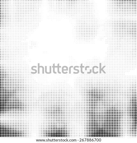 Grunge halftone dots vector texture background . Grunge Background Texture . Vector Distress Background . Linear Texture . Distress Texture . Grunge Texture . Dirt Texture . Overlay Texture . - stock vector
