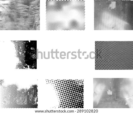Grunge halftone dots vector texture background - Pixel background Texture. - stock vector