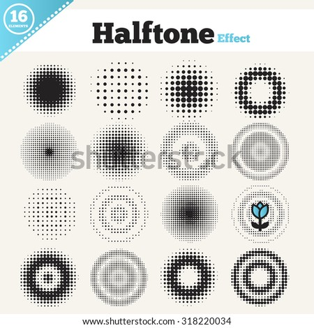 Grunge halftone drawing textures background set. Vector illustration - stock vector