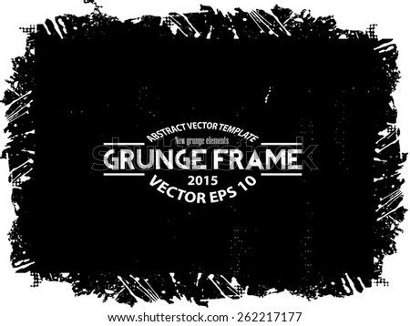 Grunge halftone frame - abstract texture. Stock vector design template - easy to use