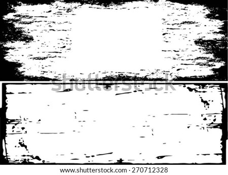 Grunge halftone frame set - abstract texture. Stock vector design template - easy to use - stock vector