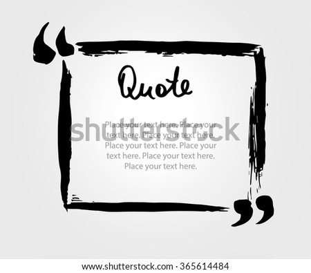 Grunge hand drawn marker blank quote template. Quote bubble with Lettering and calligraphy . Circle business card, paper sheet, information, text collection. Print design form. Vector  illustration - stock vector