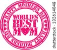 Grunge Happy mother's day rubber stamp, vector illustration - stock vector
