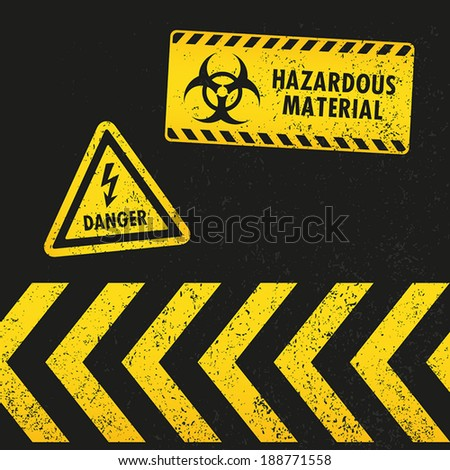Grunge Hazard Warning