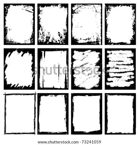 Grunge Images frames - stock vector
