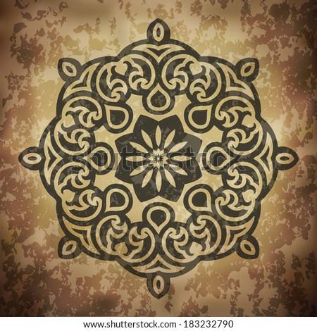 Grunge Indian Ornament Design (EPS10 Vector) - stock vector