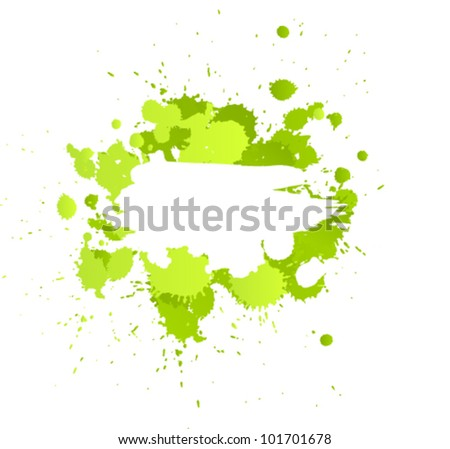 Grunge ink splat with space for text or branding - stock vector