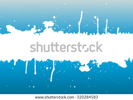 Grunge ink white splattered background element with a space for your text